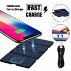 Clear Qi Wireless Fast Charger Charging Pad for Samsung Galaxy S8 / Plus S7 Edge