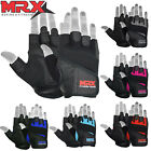 Weight Lifting Gloves Gym Fitness Bodybuilding Workout Leather Glove mens womens