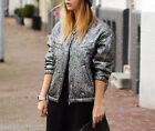 H&M Isabel Marant New Silver Silk Wool Reversible Bomber Jacket UK 10 US 6 EU 36