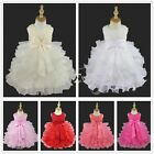 Flower Girl Baby Party Birthday Wedding Formal Pageant Xmas Vintage Dress 0000~2