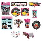 CLASSIC 50s THEMED PARTY TABLEWARE & DECORATIONS (Rock-N-Roll/Balloons/Confetti)