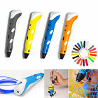 Four Colour 3D Printing Pen Stereoscopic Drawing Art Crafts+3 Free ABS Filaments