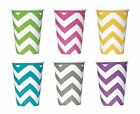 CHEVRON Range of PAPER PARTY CUPS - Pack of 6 {Unique} (Tableware/Birthday/Kids)