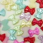 20/200pcs Resin Flatback/Bead Mixed Pearl Bowknot Embellish Craft Scrapbook
