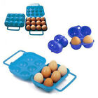 2/6/12 Storage Eggs Container Folding Holder Portable Box Plastic Cases