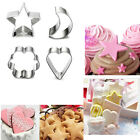 Star Moon Flower Heart Stainless Steel Cake Cutter Biscuit Cake Baking Mold Sets