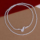 """16""""/18""""/20""""/22""""/24"""" Silver Plated Twist Rope Chain Necklace Pendant"""