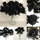 Job Lot Of 4 x Bunches Of Artificial Black Roses