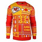 Ugly Christmas Sweater Nfl Kansas City Chiefs Patches Football Xmas Crew Neck