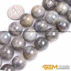 "Natural Stone Rainbow Labradorite Round Beads For Jewelry Making 15"" 6mm 8mm 10m"