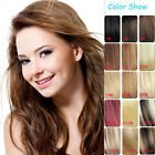 """Hair Extensions Full Head Clip in 100% Remy Human Hair 14""""-30"""" 7pcs Any Colors"""