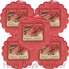 5 YANKEE CANDLE WAX TARTS MELTS Sparkling Cinnamon BUY 2 SAVE £2  Winter scented