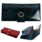 NEW Women's Lady Gloss Snap Button Premium Faux Leather Long Wallet #WD003