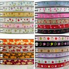 "5Yard 25Yard Rose Cheery Apple Maple Flower Grosgrain Ribbon Craft 9mm(3/8"")"