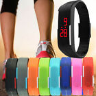 New Mens Womens Kid Digital LED Sports Silicone Wristwatch Bracelet Waterproof
