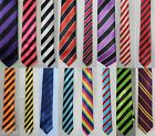 MENS STRIPED TIES, CLUB, OCCASION, STAG NIGHT, FANCY DRESS,  PACK 20, 30, 50