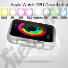 Per Apple Smart Watch 42mm BUMPER CASE COVER CUSTODIA IN GOMMA TPU GEL SILICONE
