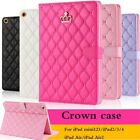Luxury Crown Slim Smart Wake Leather Case Cover For Ipad Mini Air/air 2 2/3/4/5