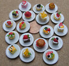 1:12 Dolls House Miniature Hand Made Cake On A Plate W24 Kitchen Shop Accessory