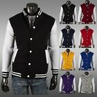 Men Women Varsity Style Letterman University College Baseball Jacket Coats Hot