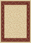 Beige Vines Leaves Persian Area Rug Bordered Paneled Scrolls Oriental Carpet