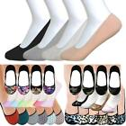 6 Pairs Hidden Shoe Liners Foot Cover Footies No-Show Low Cut Socks Ballet Flat