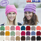 New CC BEANIE Womens Knit Slouchy Oversized Thick Cap Hat Unisex *Simply Chic