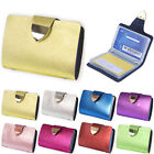 New Waterproof Women Leather ID Credit Card Mini Wallet Holder Pocket Case Bag