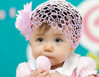 Baby Headband Large Flower Wide Lace Headband Girl Hair Band Photo Prop Pink New