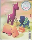 From UK Sewing Pattern Stuffed Toys - Elephant, Hippo, & Giraffe # 116