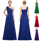 Ladies Wedding Ball Gown Prom Long Evening COCKTAIL Dress Pleated size 6 8 10 14