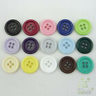 20pcs Resin Plastic Big Round Buttons Lots Craft (U pick color) Coat Sewing Card