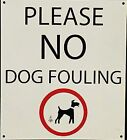 Please No Dog Fouling enamelled steel sign   (dp)