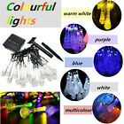 Solar Powered 30 LED String Light with Crystal Water Drop Covers Deco Xmas New