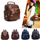 Women Leather Travel Backpack Scholl bag Purse Lady Small Tote Rucksack Handbag