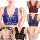 New Womens Leisure Comfort Sexy Seamless Yoga Stretch Sports Top Padded Lace Bra