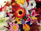 BIG Bundle Of 100 x Artificial Flower Heads *Ideal For Crafts/Card Making*