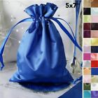 180 pcs 5x7 inch SATIN FAVOR BAGS - Shiny Wedding Drawstring Gift Large Pouches