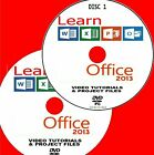 LEARN MICROSOFT OFFICE 2013 SIMPLE VIDEO TRAINING NEW 2X PC DVD WORD OUTLOOK Etc