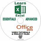 LEARN MICROSOFT OFFICE 2013 EXCEL BEGINNERS & ADVANCED VIDEO TRAINING PC DVD NEW