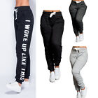 NEW WOMENS LADIES DRAWSTRING SWEATPANTS JOGGERS TRACKSUIT BOTTOMS SIZE 8- 24