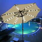 8ft/9ft/10ft/13ft Outdoor Patio Aluminum Umbrella Common/LED Option Beach Garden