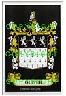 OLIVER Family Coat of Arms Crest - Choice of Mount or Framed