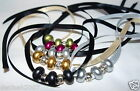 Voile / Ribbon Beaded NECKLACE / Acrylic Beads / Tie up / Chocker or Dangling
