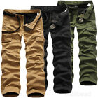 Stylish Men Cotton Combat Fleece Lined Cargo Pant Army Work Trousers Winter Pant