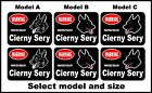 2 Warning protected by Cierny Sery guard dog breed decals sticker stickers