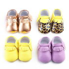 NEW Tassel Sole Leather Shoes Baby Infant Newborn prewalker Solid Moccasin # STZ