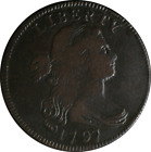 1797 Large Cent Choice VF+ S.120B Gripped Edge
