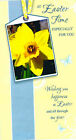 'AT EASTER TIME' - SPRING DAFFODIL THEME EASTER CARD - ESE 22619-24