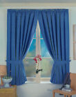 BOYS BLUE SHADE THERMAL TOTAL BLACKOUT CURTAINS 46 x 72 drop~117x183cm~Save ££`s
